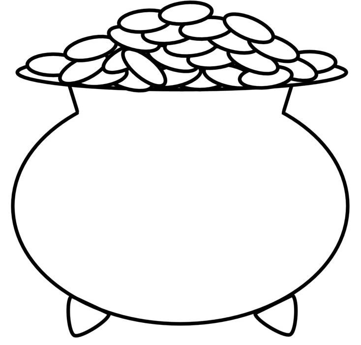 Rainbow And Pot Of Gold Coloring Page Coloring Home Rainbow And Pot Of Gold Coloring Pages