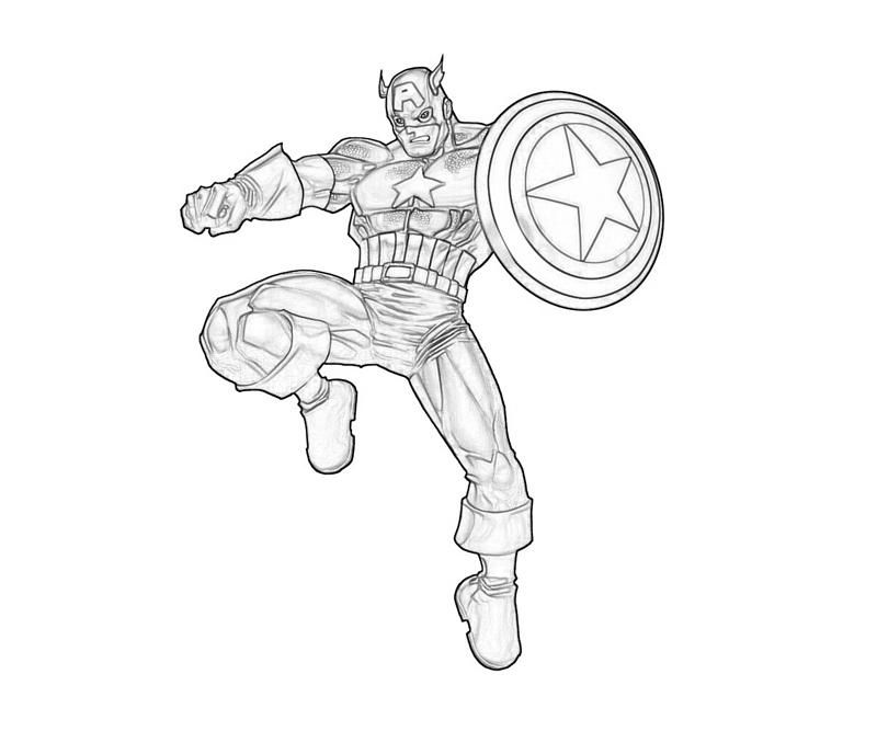 Awesome Captain America Coloring Page | Coloring Pages