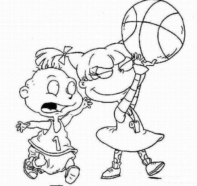 Download Nick Jr Basketball Coloring Pages Or Print Nick Jr