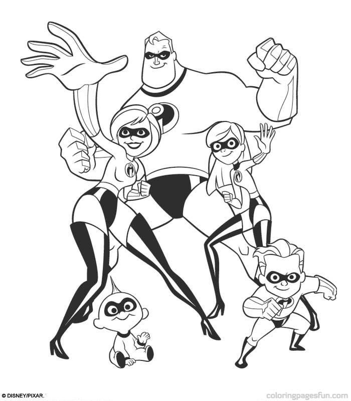 Disney the incredibles coloring home for The incredibles coloring pages