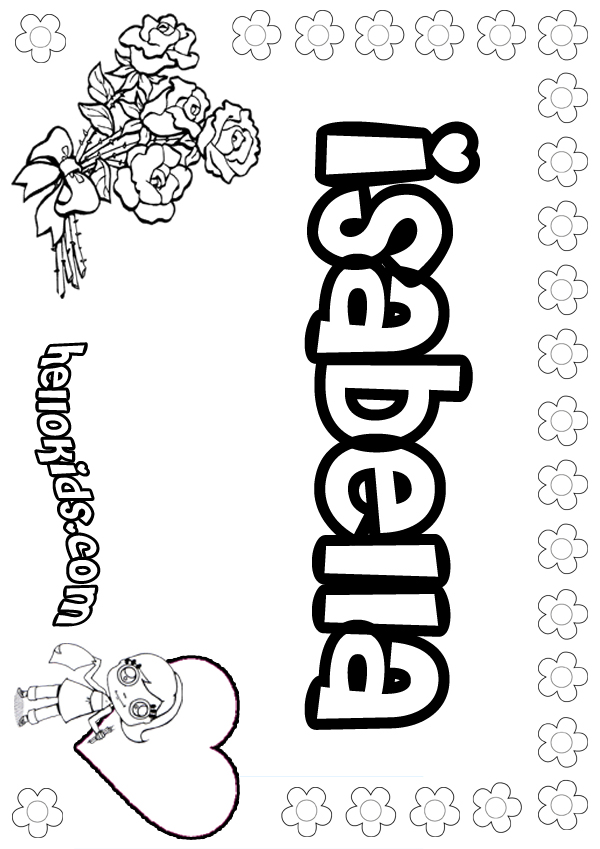 Coloring Pages With Names : Coloring pages girls names az