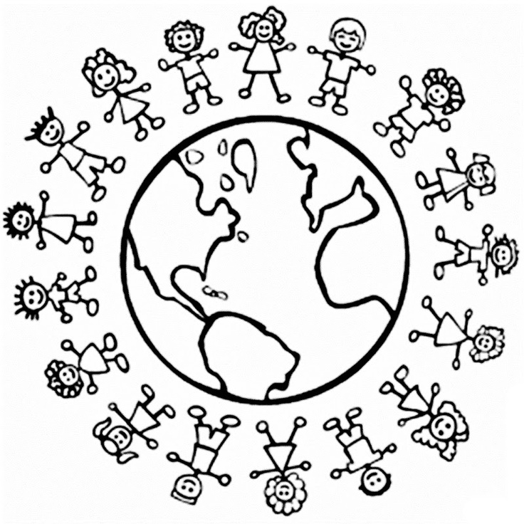 Children Around The World Coloring Page - AZ Coloring Pages