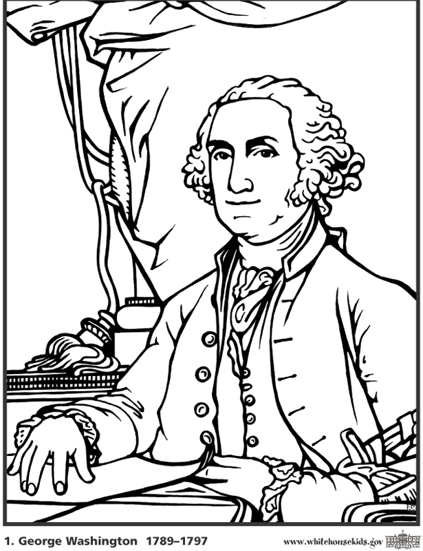Coloring George Washington Pages