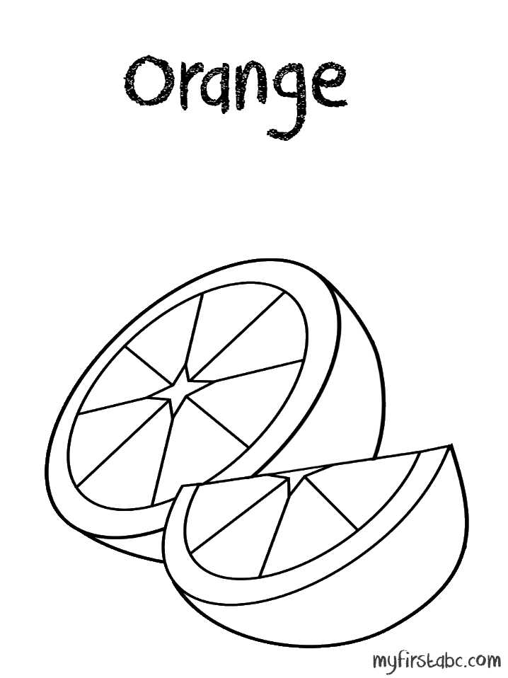 Color Orange Coloring Page Orange Coloring Page my