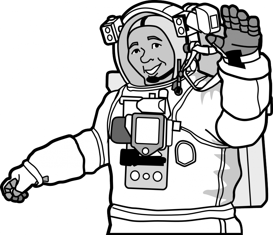 astronaut coloring pages for kids az coloring pages