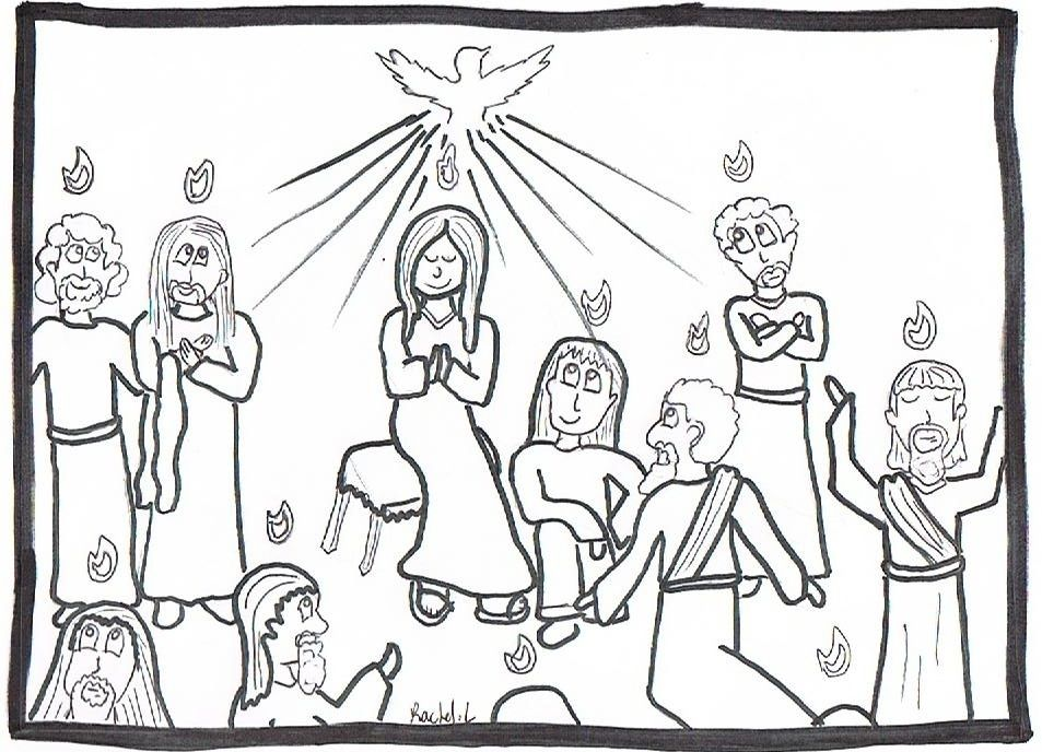 Pentecost Coloring Page Coloring Home