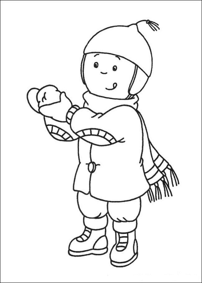 Caillou Coloring Pages Online - Picture 26 – Free Printable