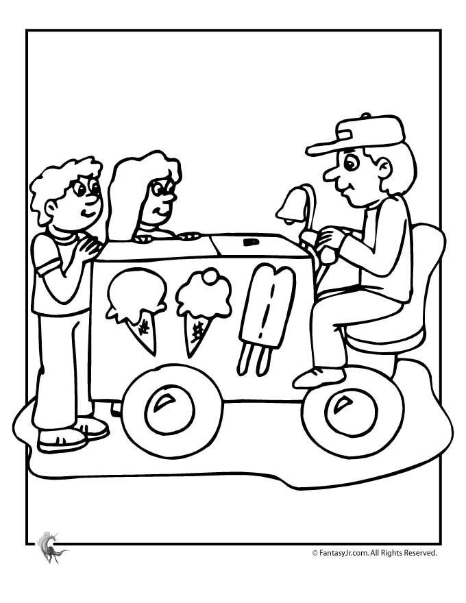 ice cream truck coloring page - photo #15