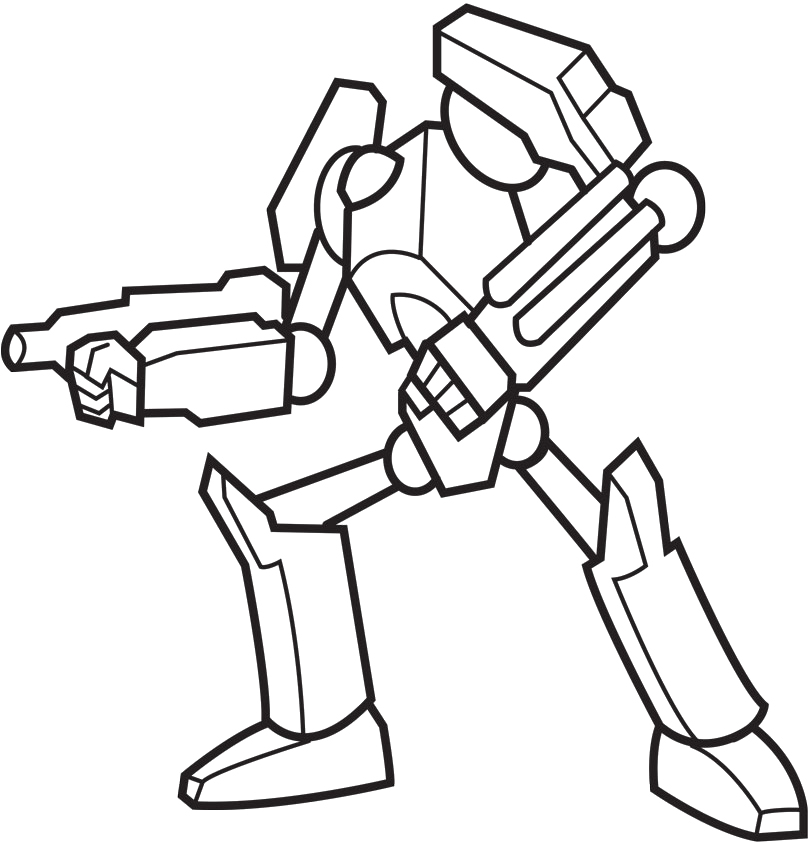 robot coloring page az coloring pages