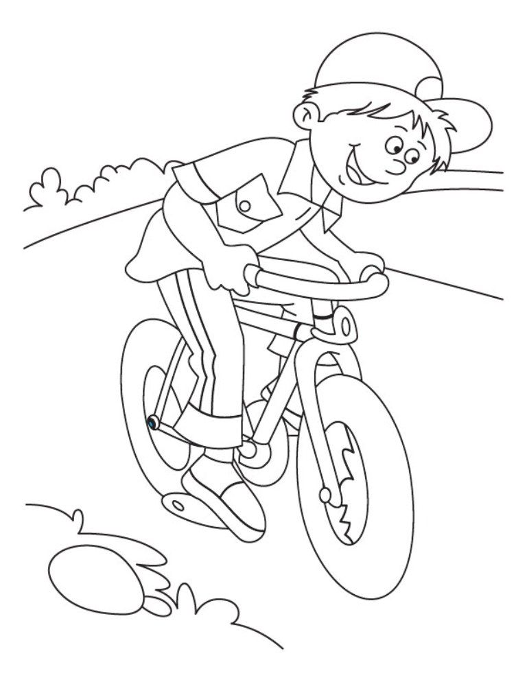 riding a bike coloring pages - photo#29