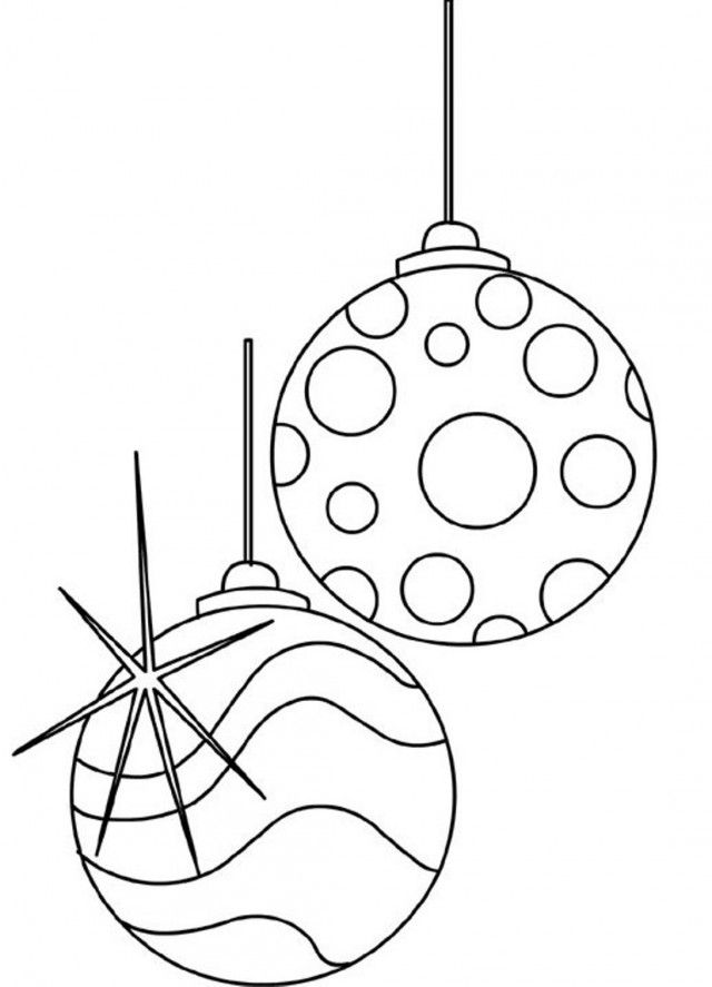 Christmas Decorations Coloring Pages Balls Ornaments Id ...