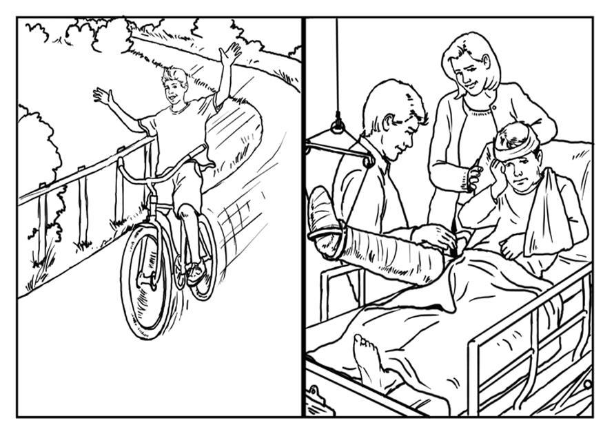 Bicycle Safety Coloring Pages - Coloring Home