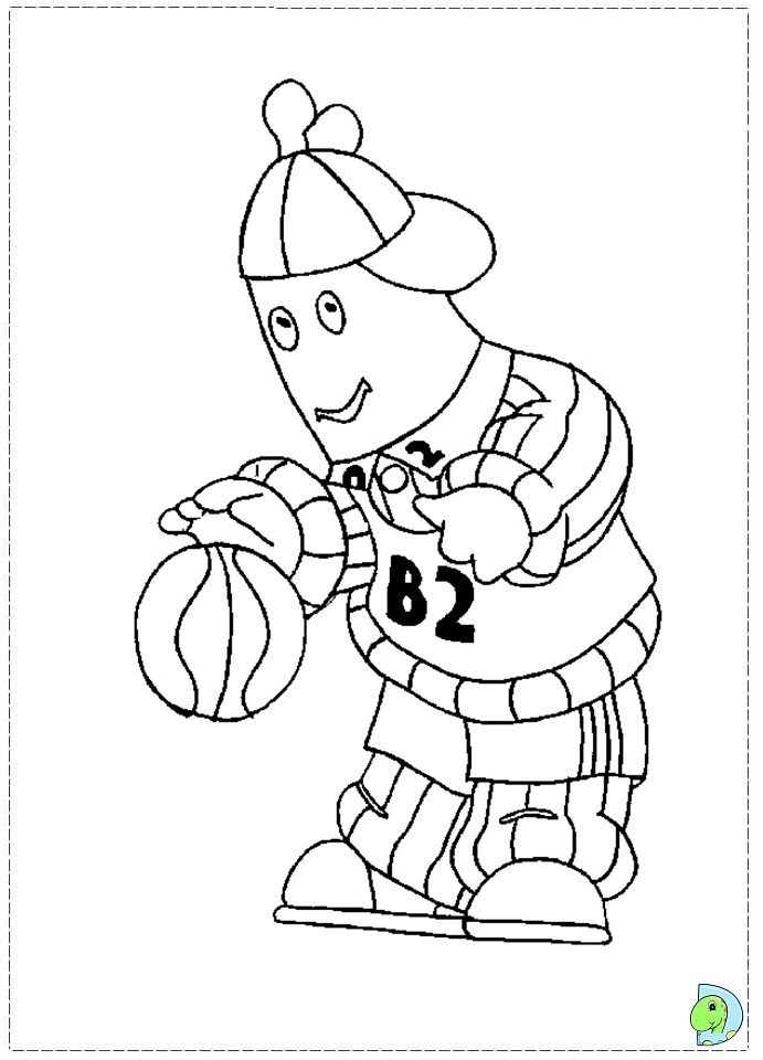 Bananas in pyjamas Colouring Pages (page 2)