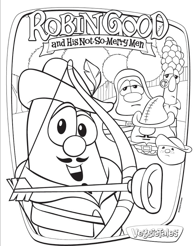 veggie tales coloring pages free - photo#28