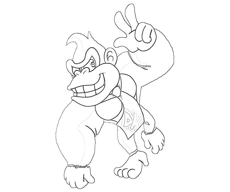 Diddy Kong Coloring Pages - Coloring Home