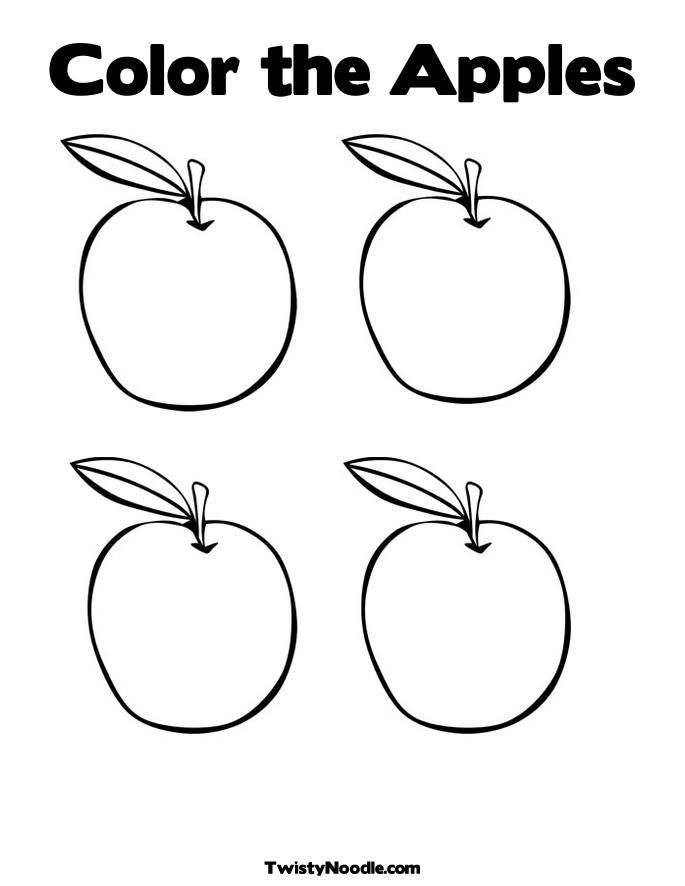 half apple Colouring Pages