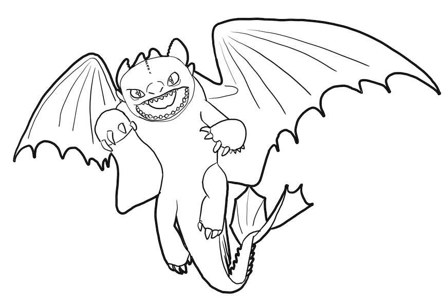 how to train your dragon night fury coloring pages for kids