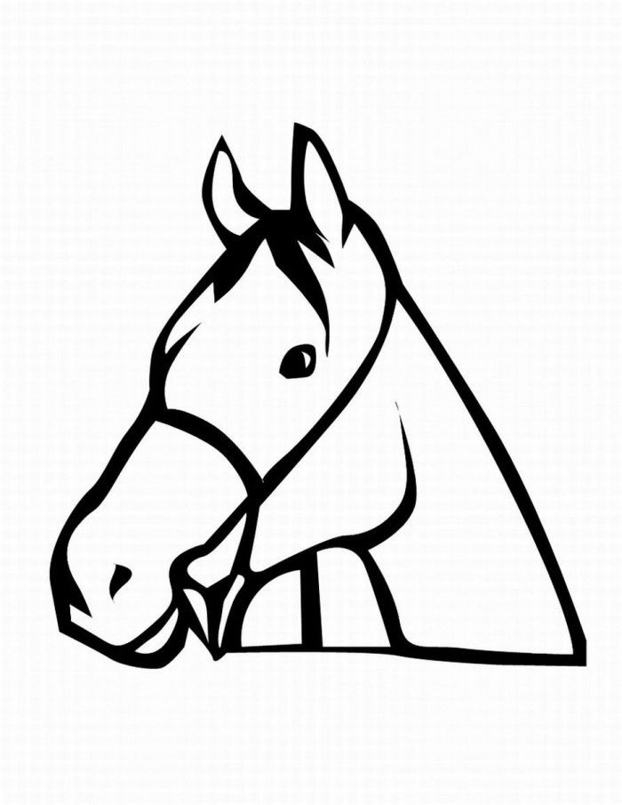 horse face coloring pages - photo#8