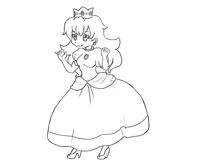 Princess Peach Coloring Pages To Print - Coloring Home