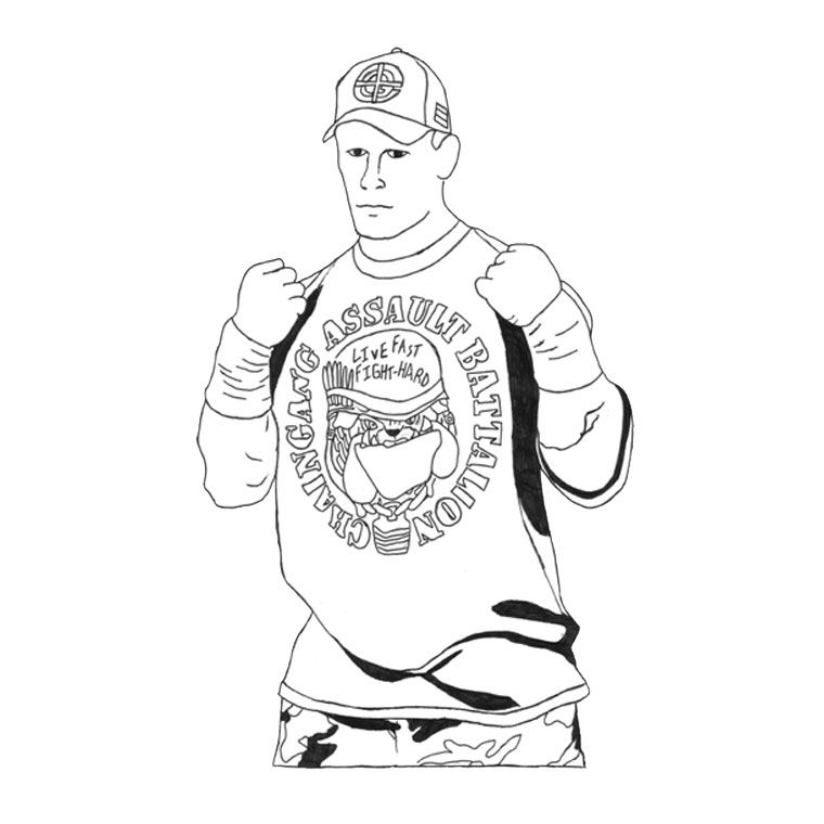 john cena coloring pages - wwe color pages coloring home