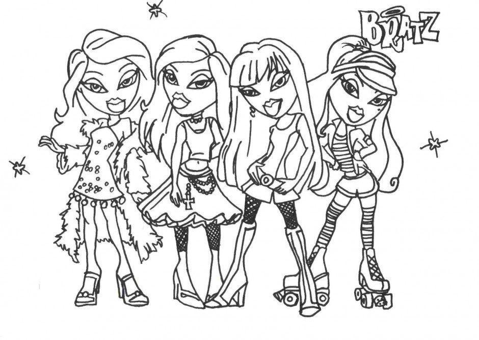 bratz coloring pages cloey - photo#21