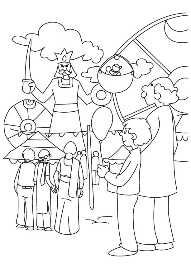 dussehra pics for coloring book pages | Dussehra Mela Coloring Page | Download Free Dussehra Mela Coloring - Coloring Home