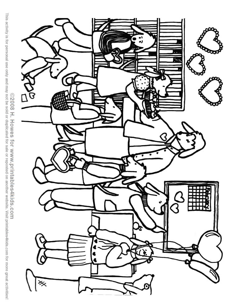 Classroom Coloring Page  Coloring Home