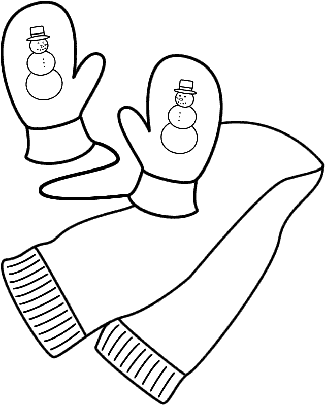 mittens coloring page coloring home