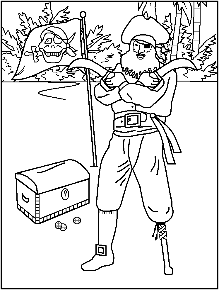 Neverland pirate Colouring Pages