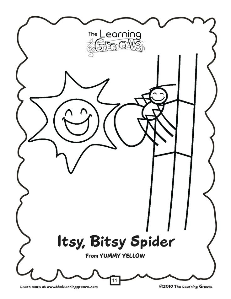 itsy bitsy spider coloring pages - incy wincy spider colouring pages