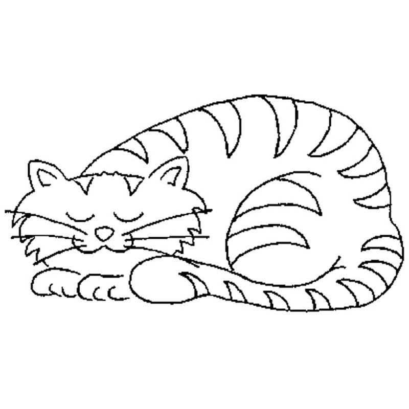 cat dreaming coloring pages - photo#30