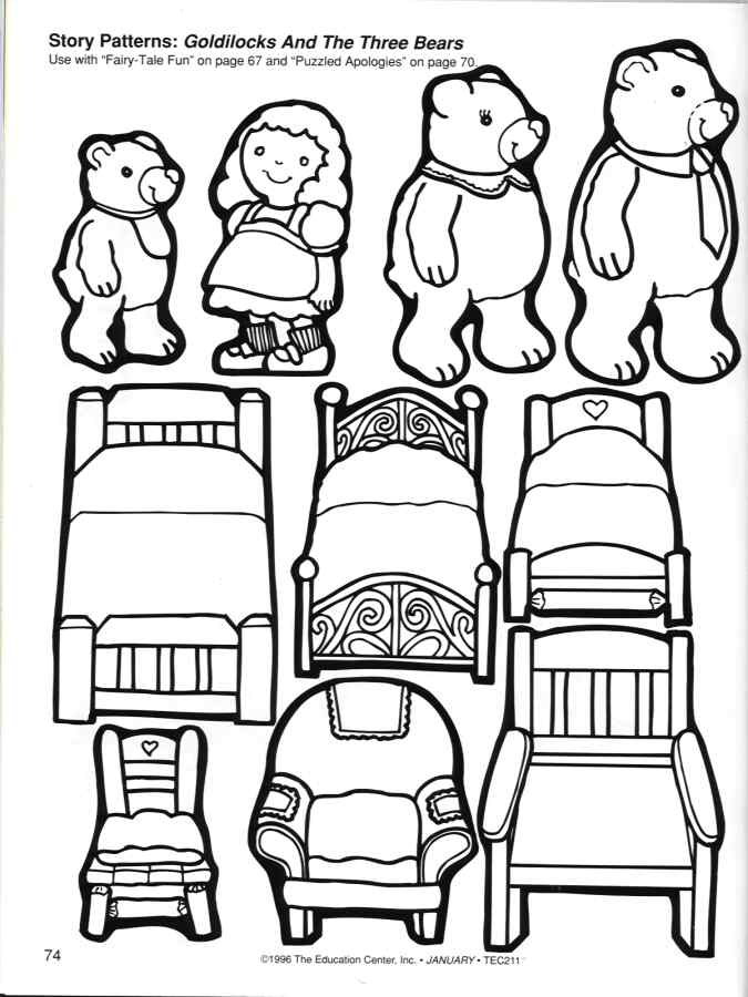 the three bears coloring pages - photo#2
