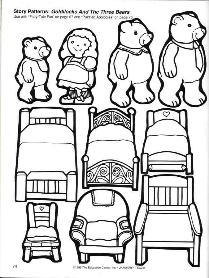 Goldilocks And The Three Bears Worksheet