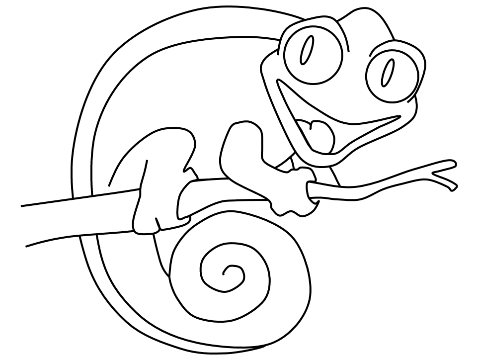chameleon coloring pages - photo#2