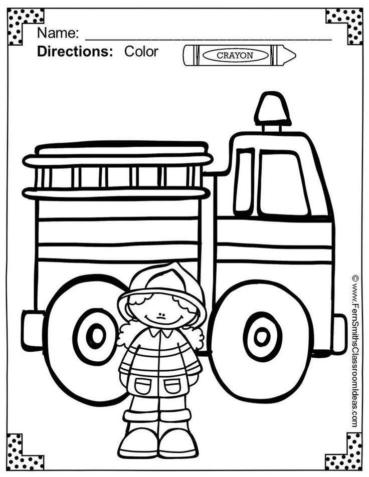 kids fire prevention coloring pages - photo#1