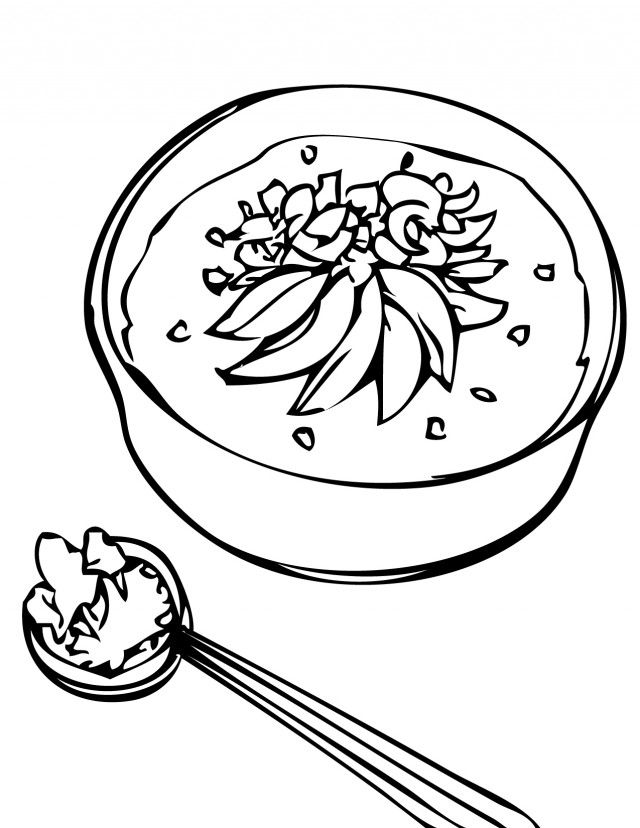 Congee Rice Porridge Coloring Page Handipoints 208262 Healthy