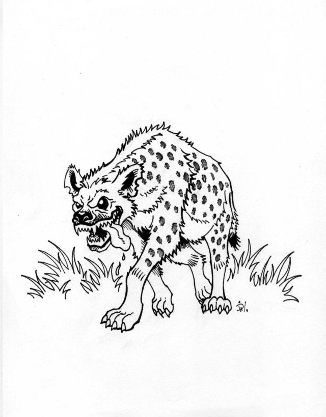 Hyena Coloring Page Coloring Home Hyena Coloring Pages