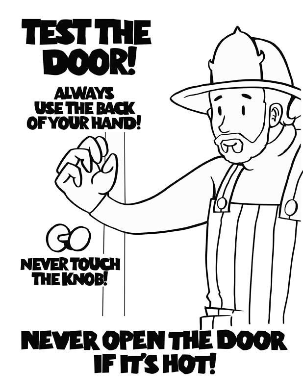 Fire prevention coloring pages coloring home for Home safety coloring pages