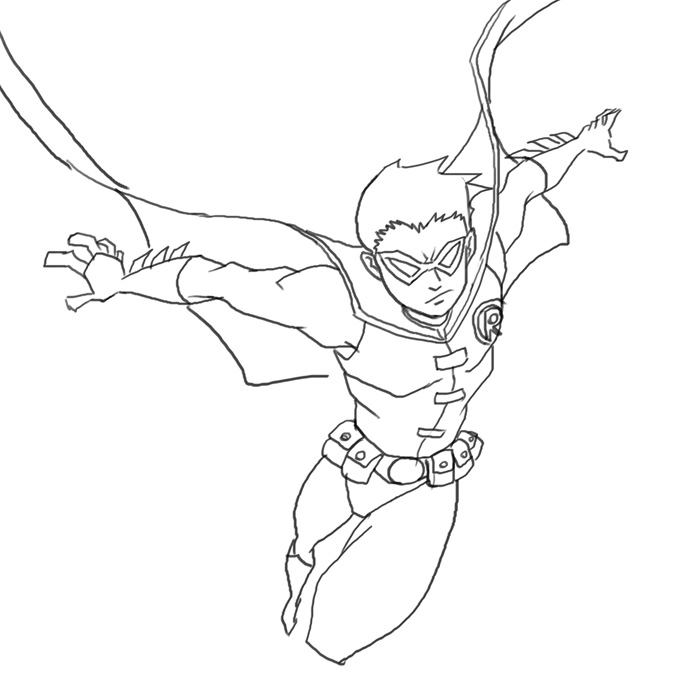 superhero woman coloring pages - photo#12