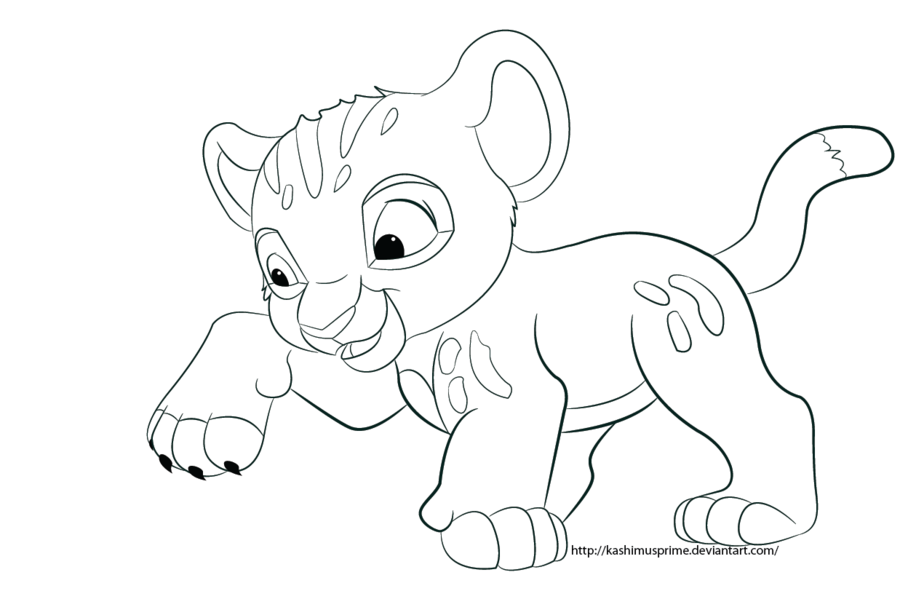 Baby Simba Coloring Pages - Coloring Home