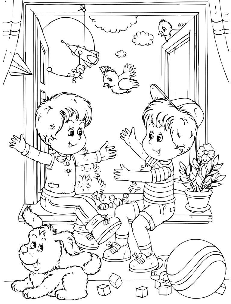 All About Me Friendship Coloring Page For Kids - Kindergarten Day