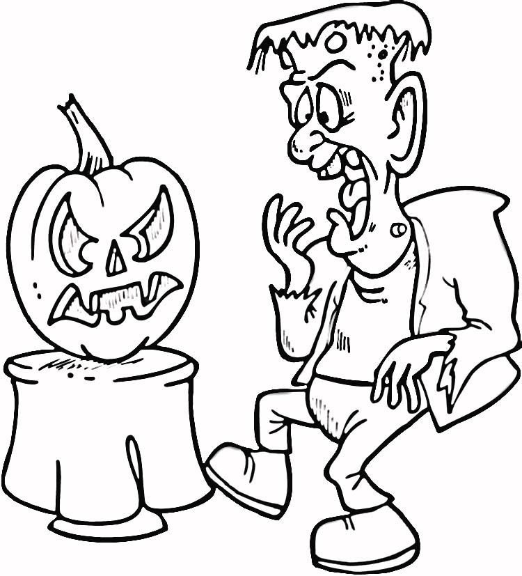 frankenstein coloring book pages - photo#24