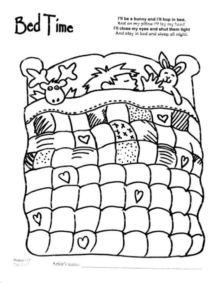 coloring pages of beds - photo#34
