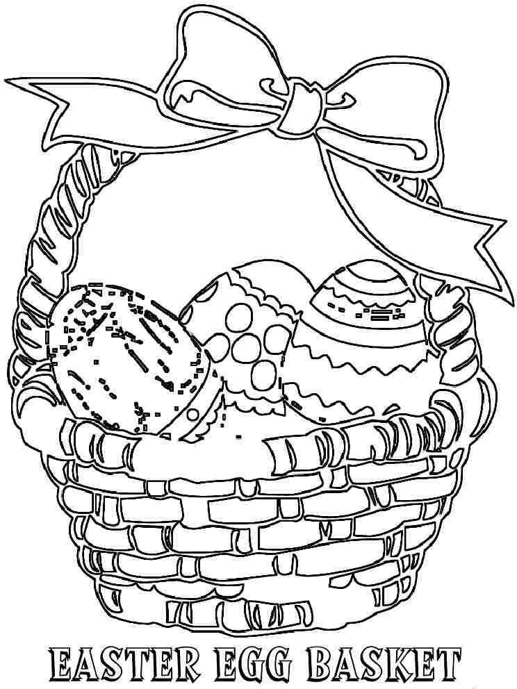 Easter Basket Coloring Pages - AZ Coloring Pages
