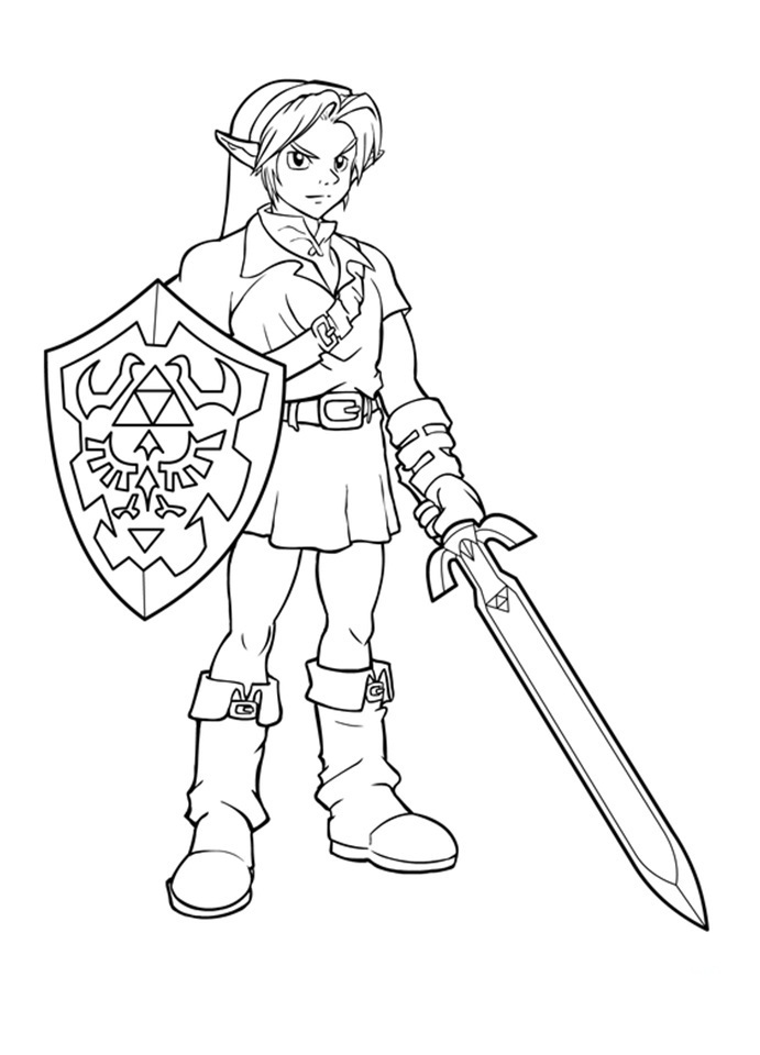 nintendo coloring pages free - photo #21