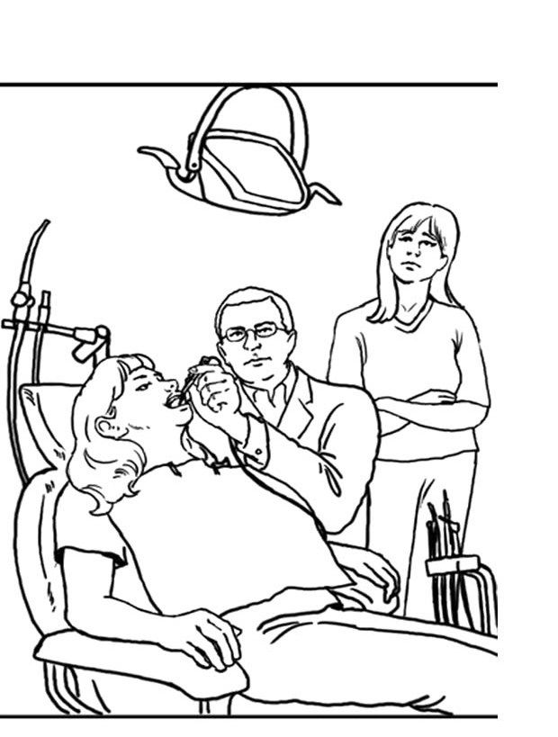 dental coloring pages for preschoolers - photo#12