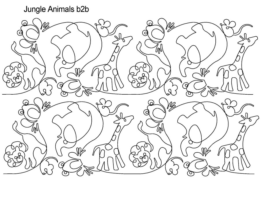 Jungle Animals Drawing jungle animals drawing pictures of az coloring ... Jungle Drawing With Animals