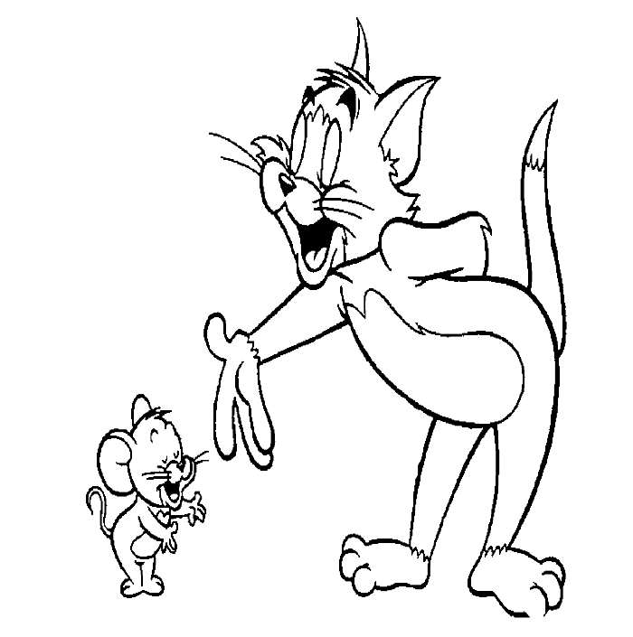 tom and jerry coloring pages pdf