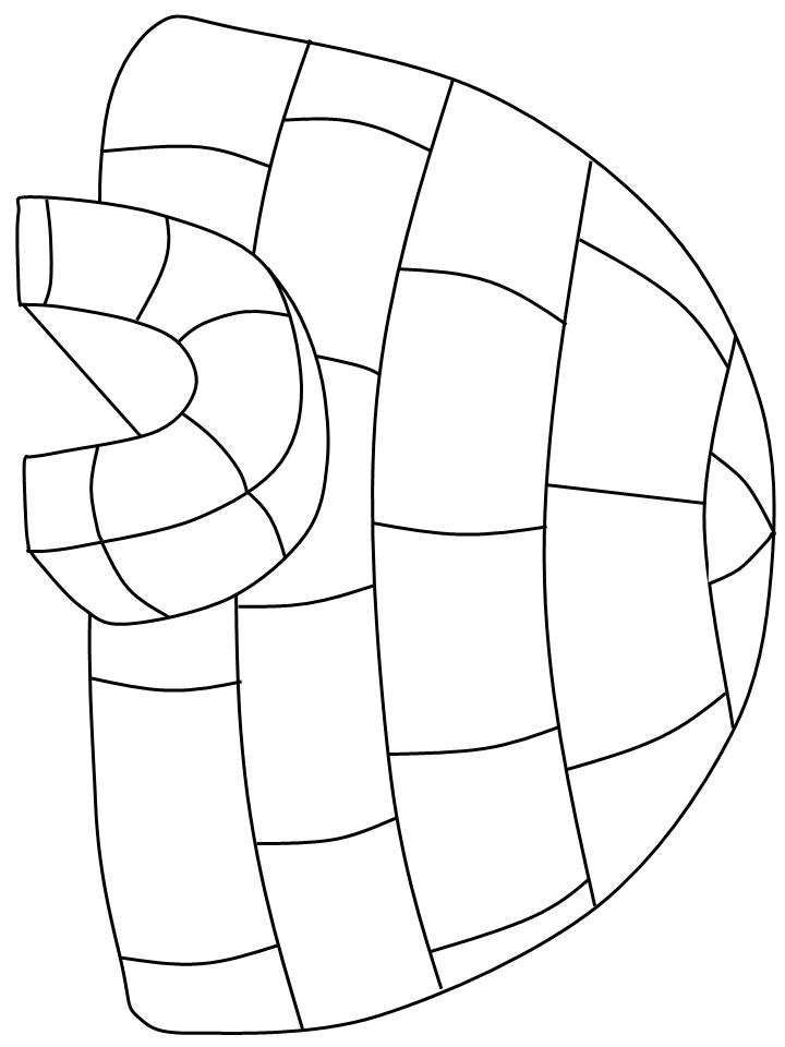 free printable igloo coloring pages - photo#23