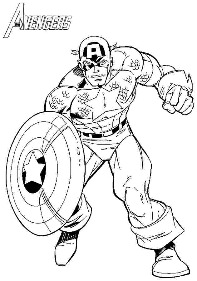 free superhero coloring pages to print - captain america printable coloring home